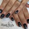Gel Manicure - Black Sparkles