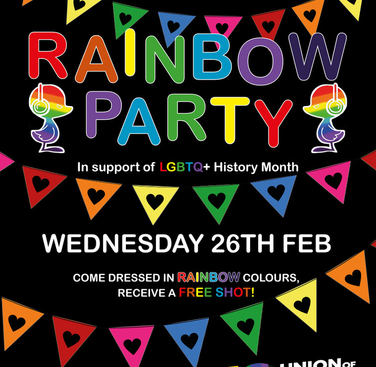 Mukky Duck Rainbow Party Flyer/Poster Design