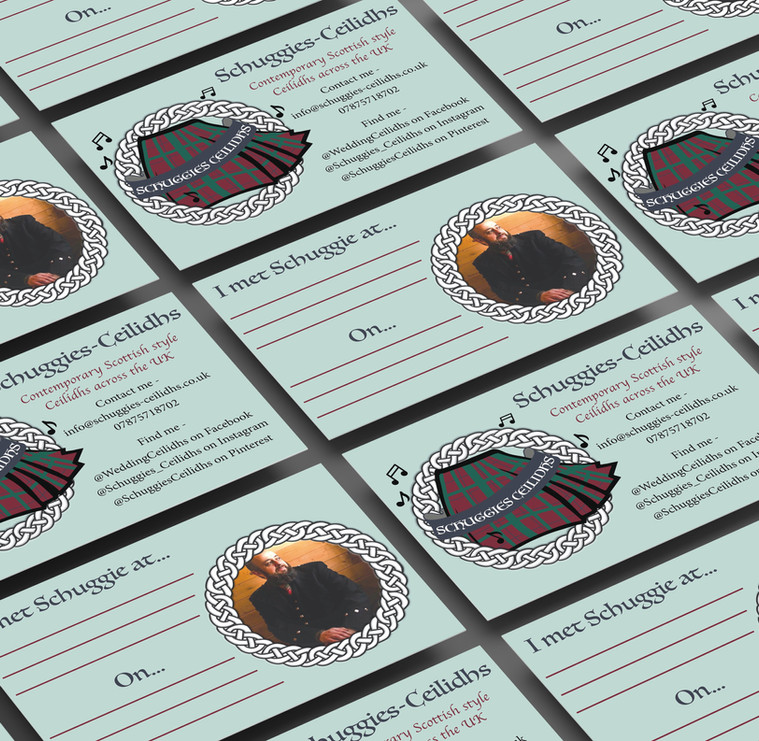 Schuggies-Ceilidhs Business Card Design