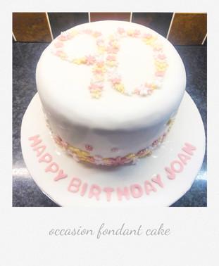 occasion birthday 90 cake