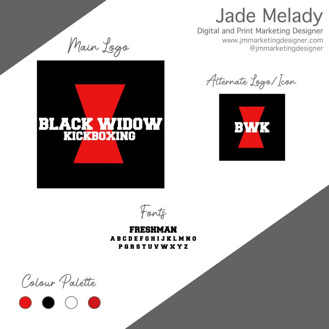 Black Widow Kickboxing logo by JMMARKETINGDESIGNER