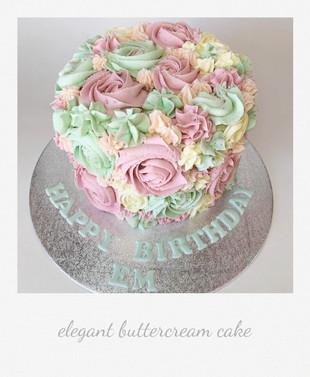 elegant beautiful birthday cake