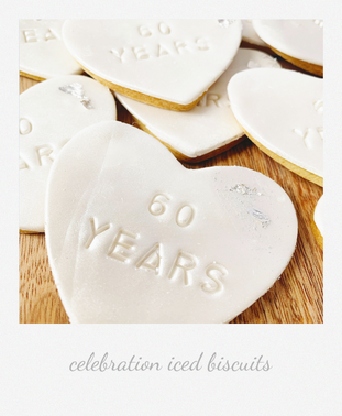 60th Anniversary iced biscuits