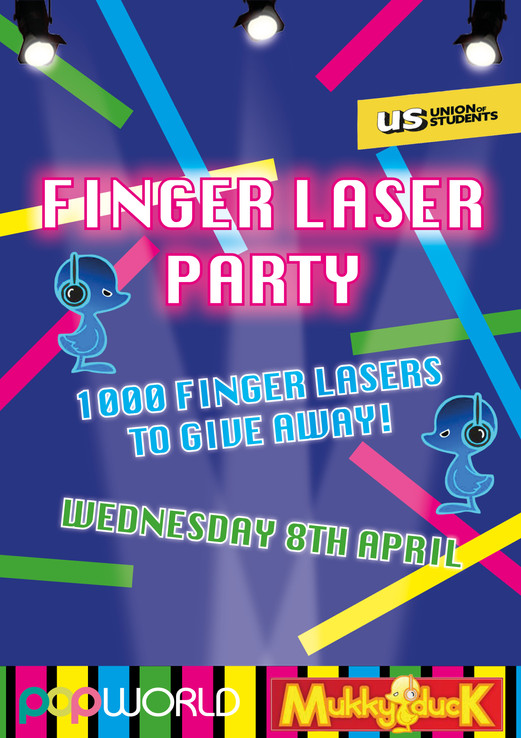 Finger Laser Party Event Poster