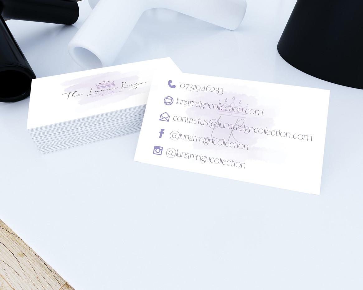Lunar Reign Business Card Design