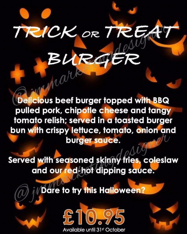 Halloween Burger in-Pub Advert
