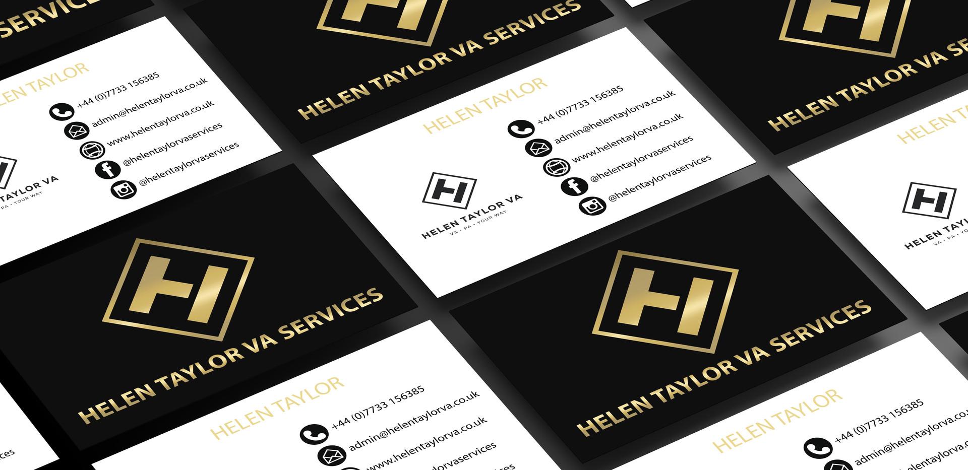 Helen Taylor VA Services Business Card design