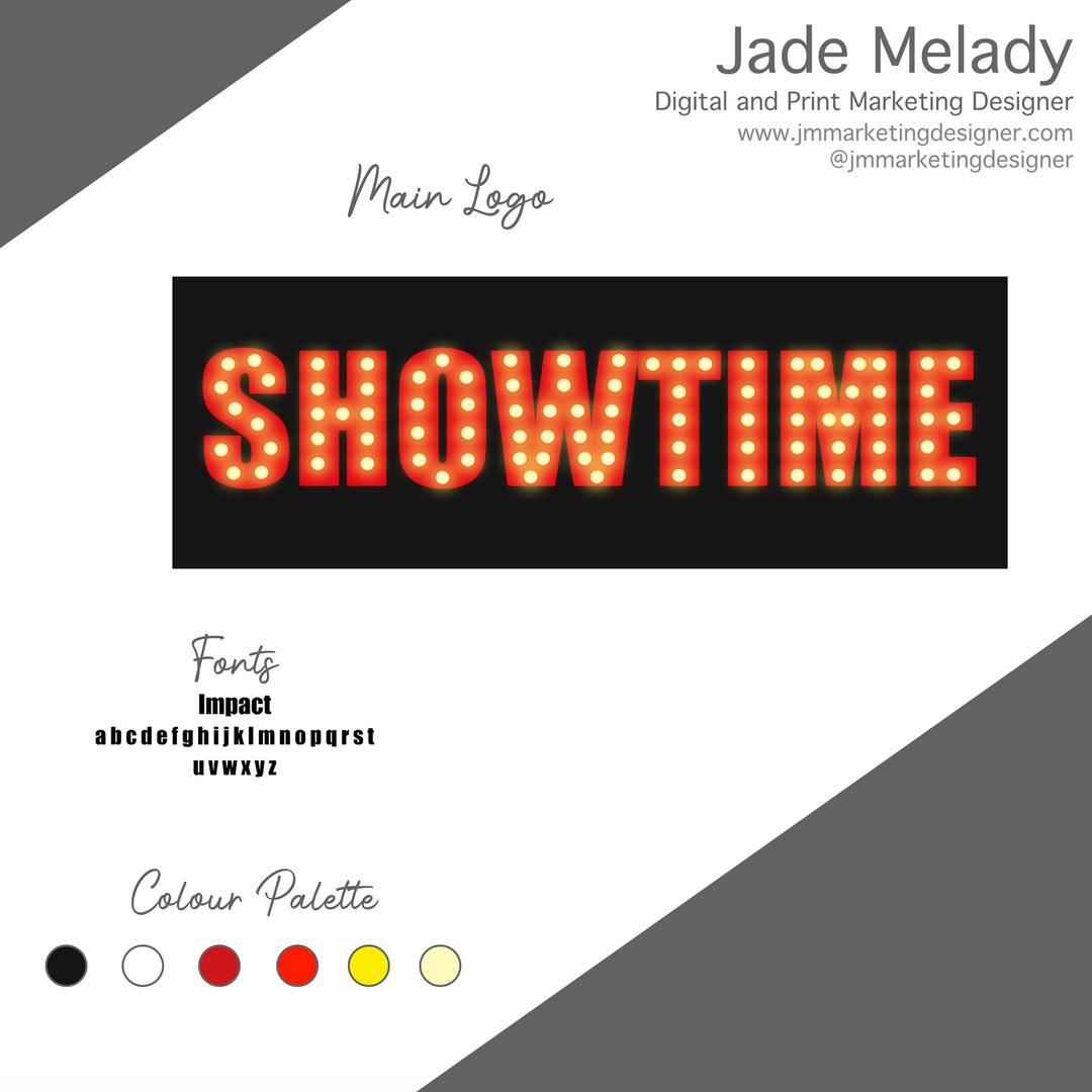Showtime logo design by JMMARKETINGDESIGNER