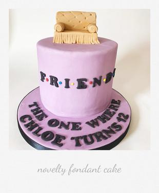 friends themed fondant cake
