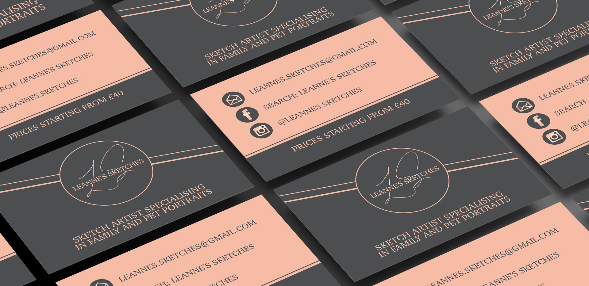 Leanne's Sketches Business Card Design