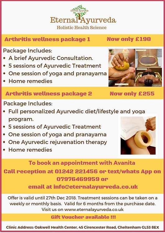 At Eternal Ayurveda- Arthirits package.j