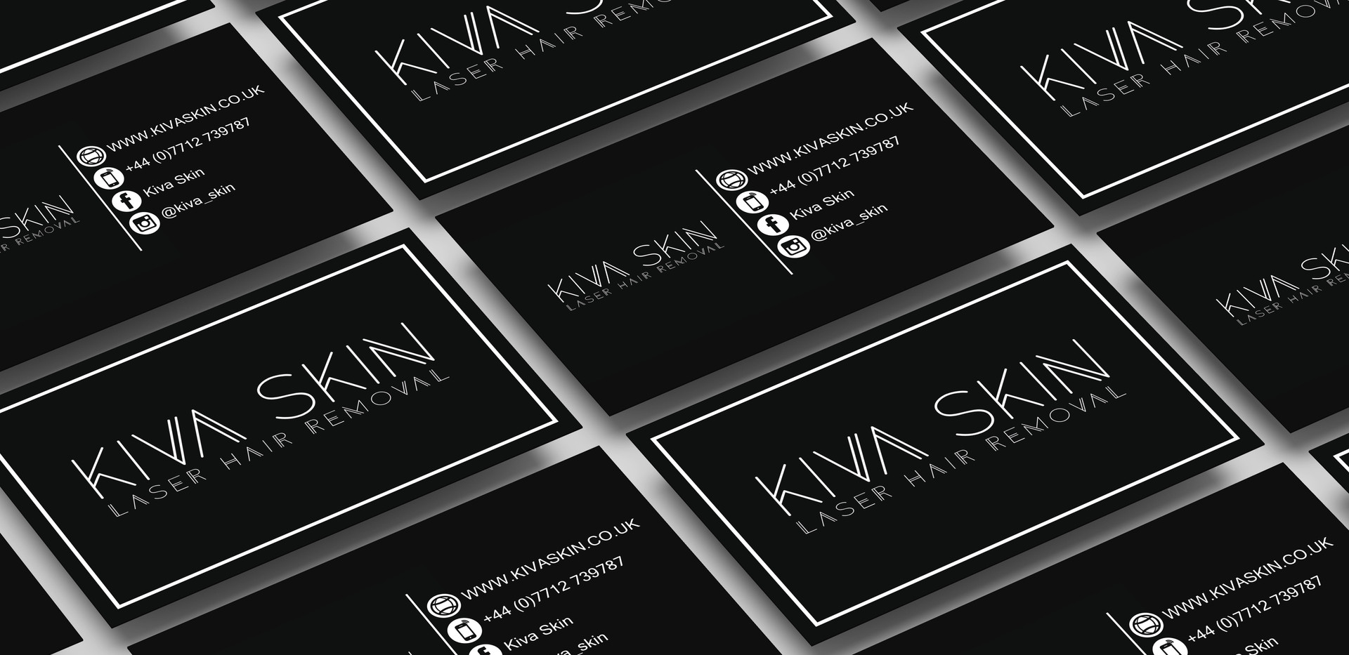 KIVA SKIN Business Card Design