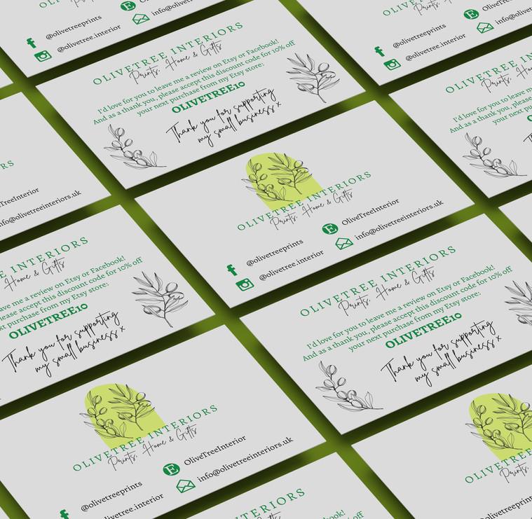 Olive Tree Interior Business Card Design