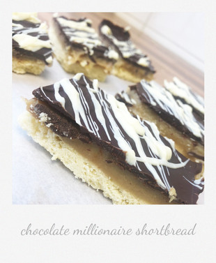 chocolate millionaire shortbread