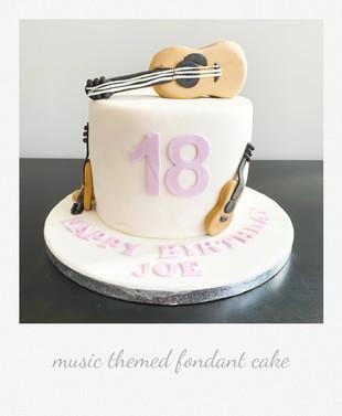 music guitar cake