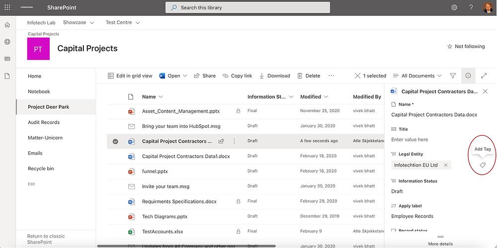 SharePoint metadata metadata options