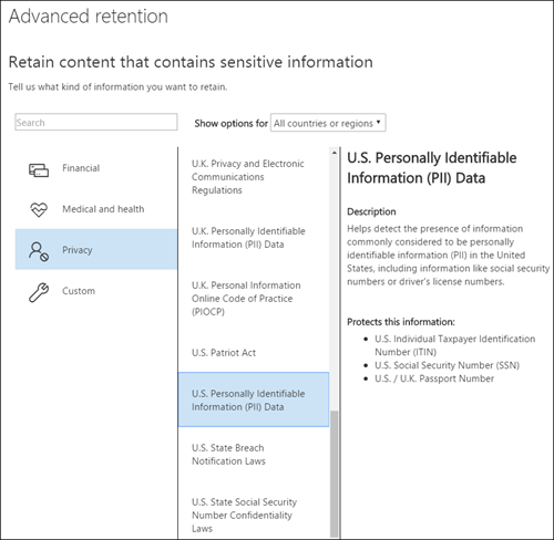 Automate records management of email in M365 with sensitive information types