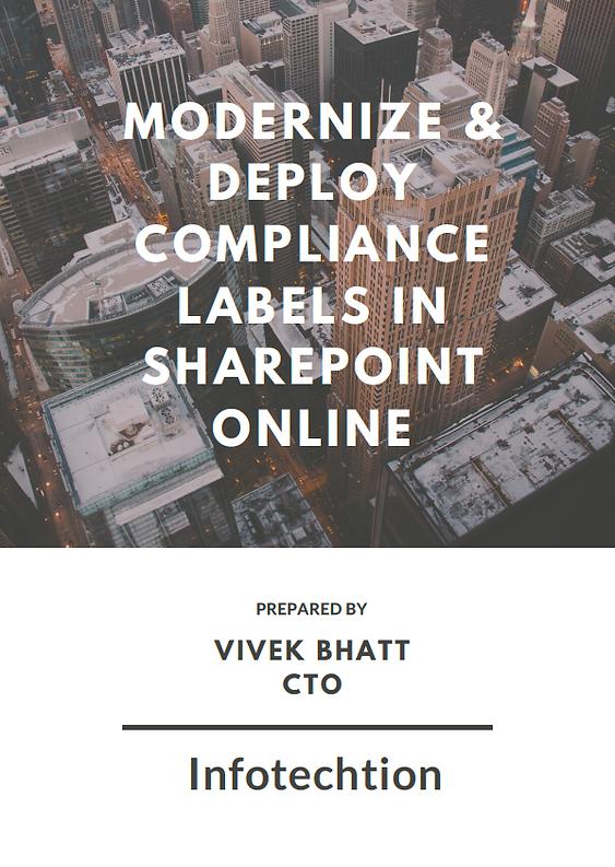 Modernize & Deploy compliance labels in
