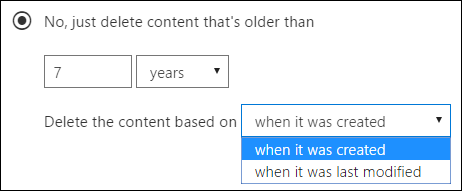 Microsoft Office 365 Retention Policies deleting old content