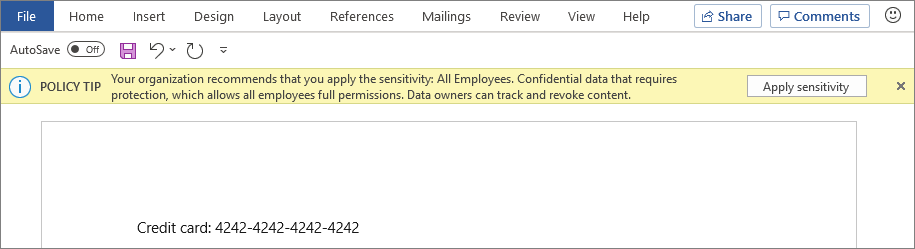 Microsoft Office 365 Sensitivity Labels