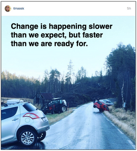 Change is happening slower than we expect