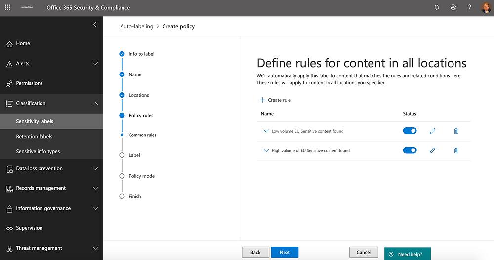 Microsoft Information Governance