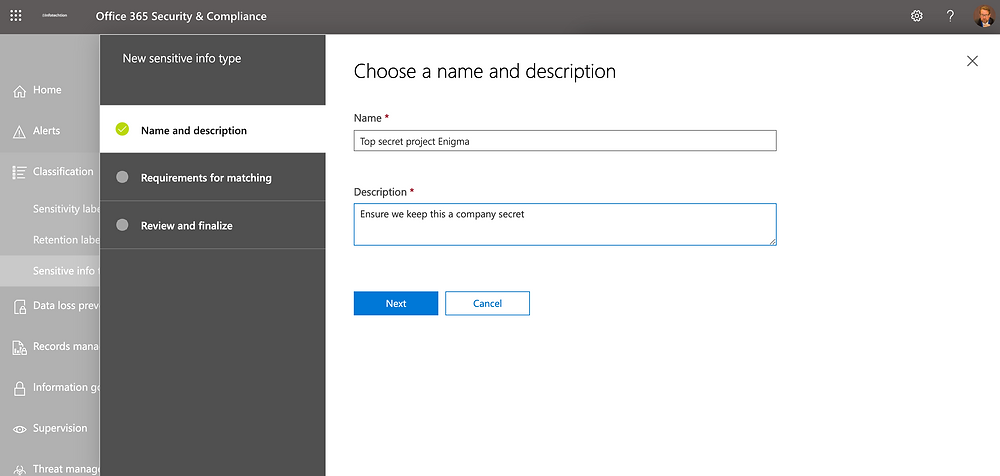 Custom Sensitive Information Types to Automate Office 365 Compliance