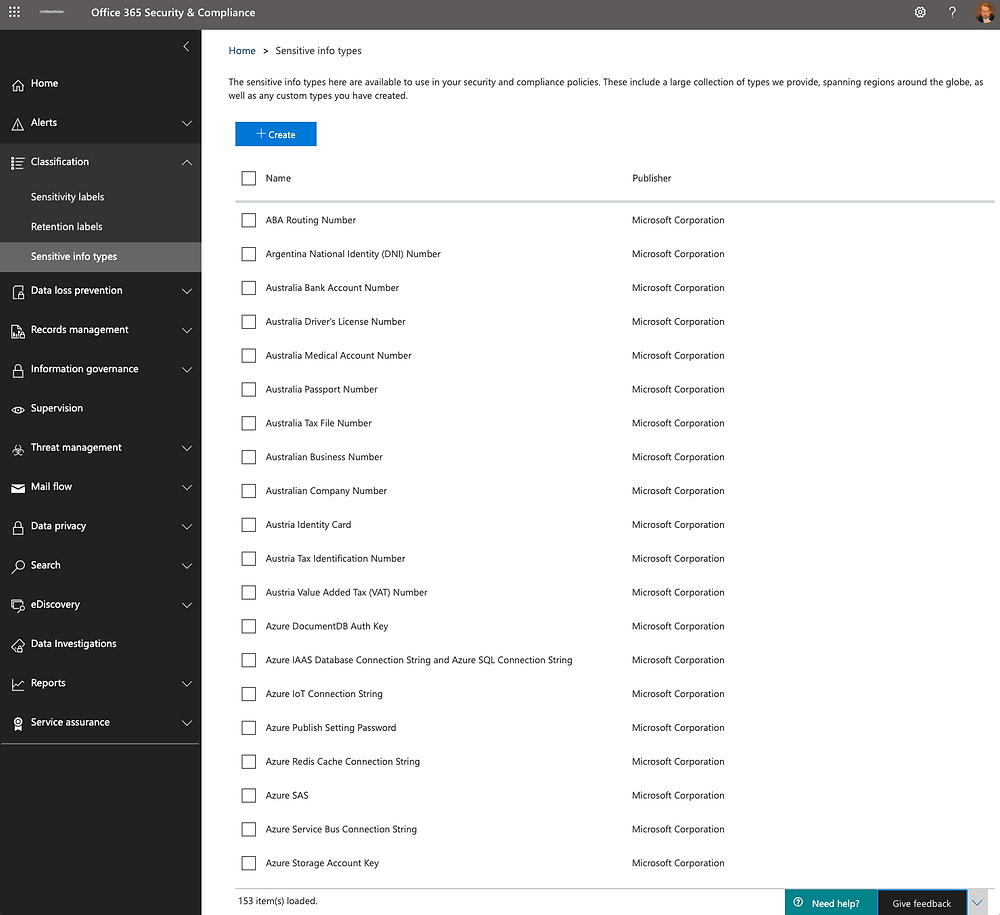 Sensitive Information Types to Automate Office 365 Compliance