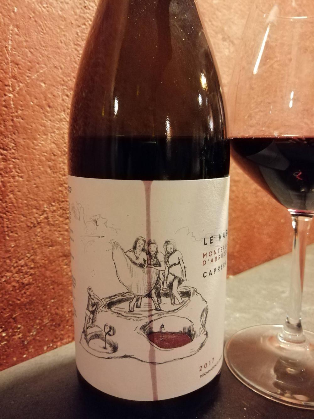Etichetta vino rosso Le Vasche Montepulciano d'Abruzzo DOC, Caprera