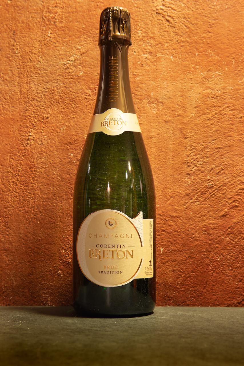 Bottiglia di Champagne Brut Tradition, Corentin Breton