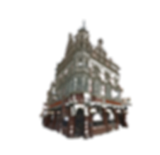strange building, pub,