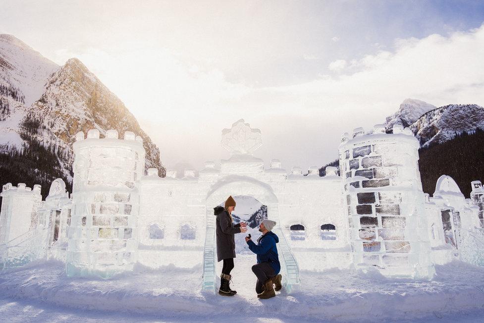 Lake Louise winter proposal