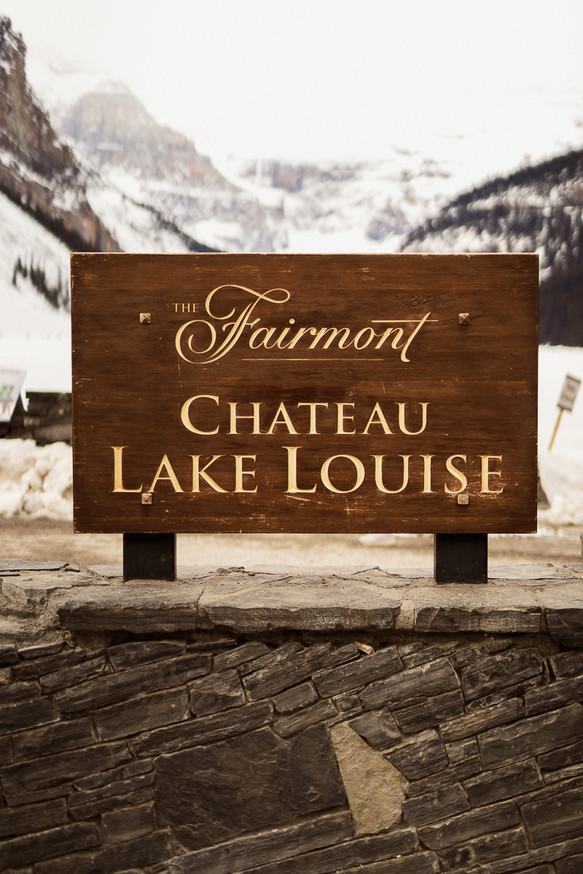 Getting ready at chateau lake louise