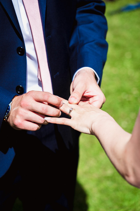 Ring shot at Canmore Ranch wedding ceremony