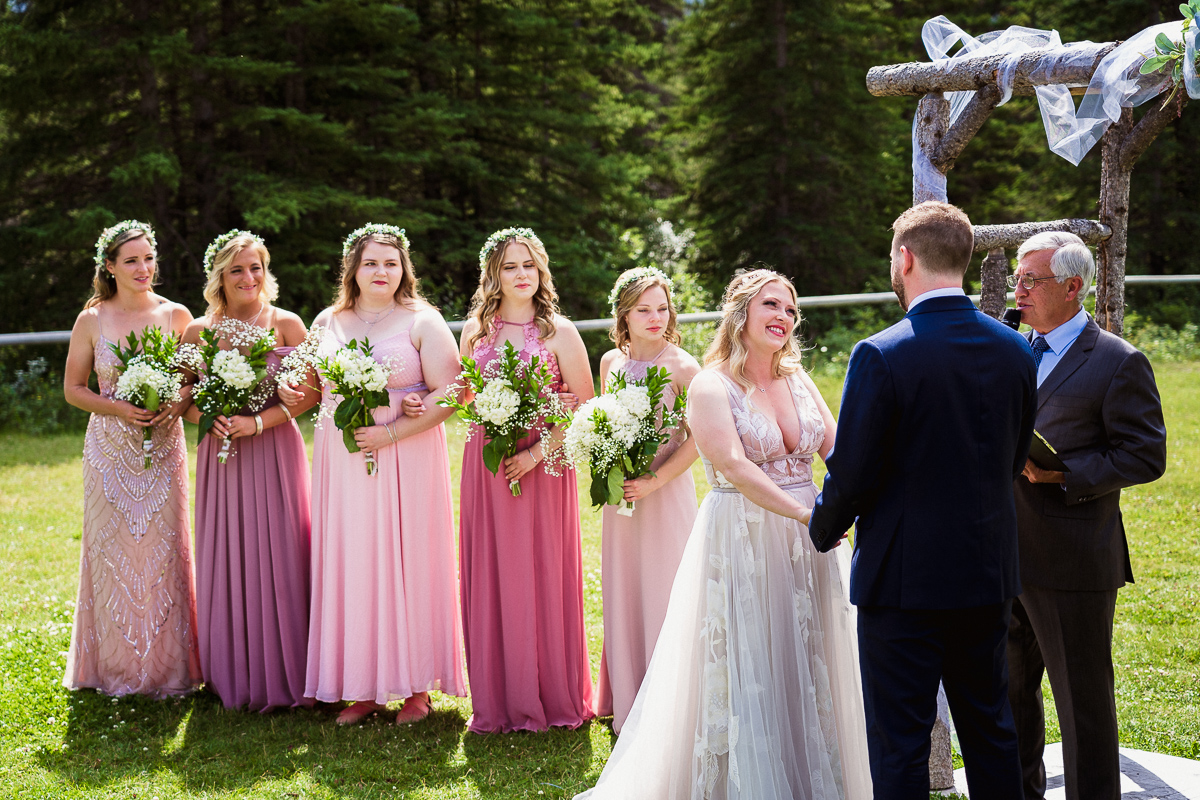 Beautiful Canmore Ranch wedding ceremony