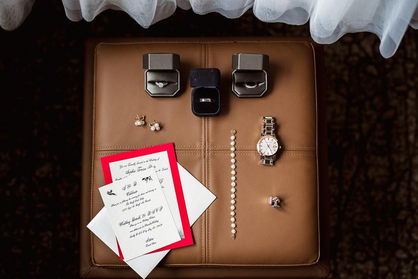 Bride's wedding day details at Banff Park Lodge wedding in Banff