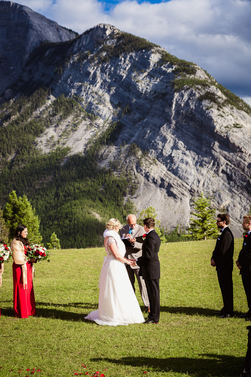 Tunnel Mountain wedding photography in Banff
