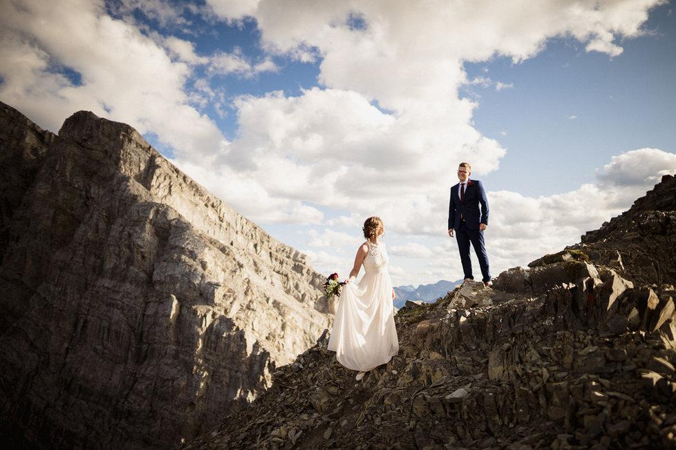 Banff adventure elopement photographer