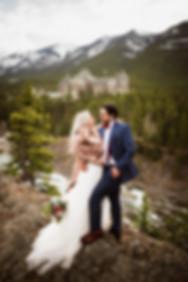 Banff wedding photograher at Suprise Corner