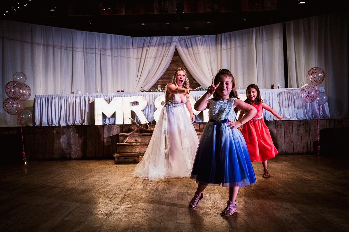 Cornerstone Theatre wedding reception dancing