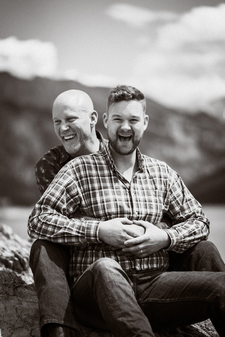 Same sex wedding photographer in Banff and Canmore