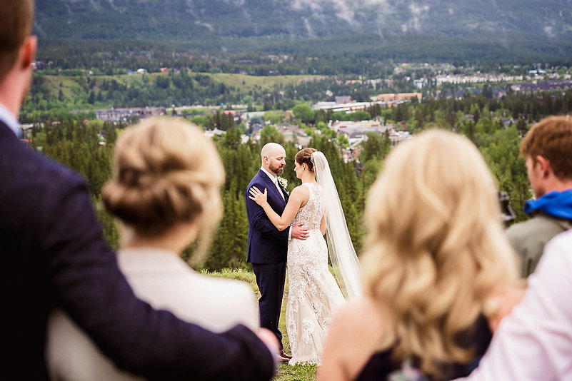 Candid wedding photographers in Banff and Canmore
