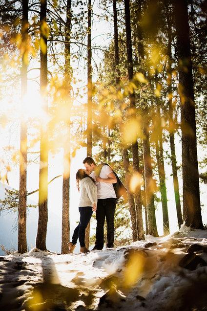 Adventurous engagement photographer in Banff