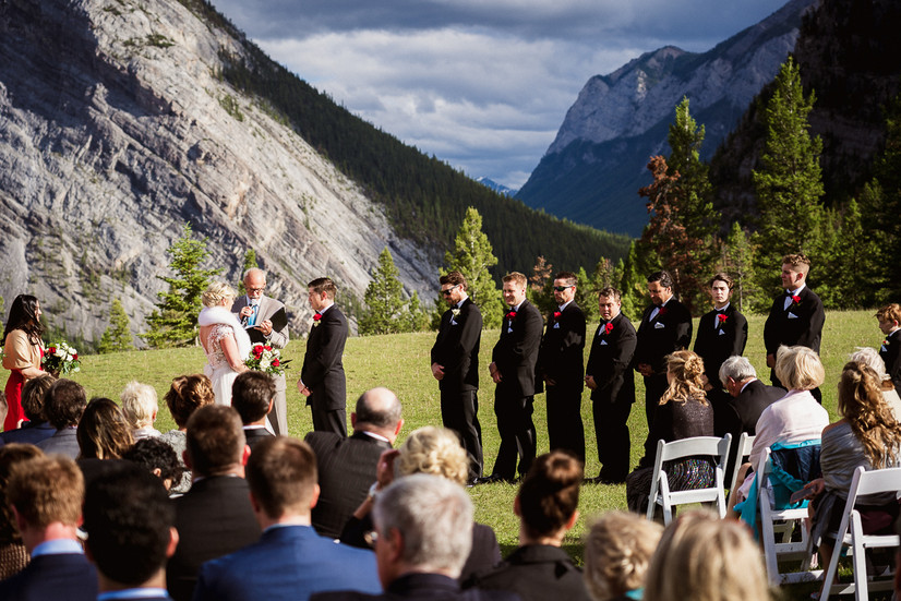 Banff wedding photographer at Tunnel Mountain wedding