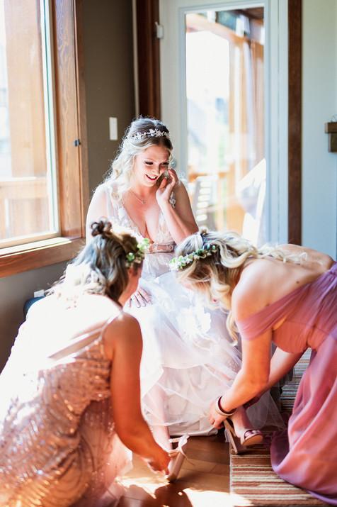 Getting ready for Cornerstone Theatre wedding