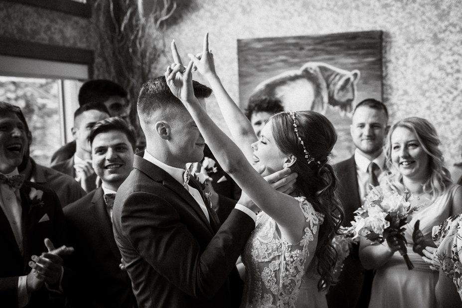 Candid wedding photography in Banff