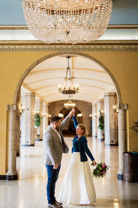 Fairmont Banff Springs Hotel elopement photography