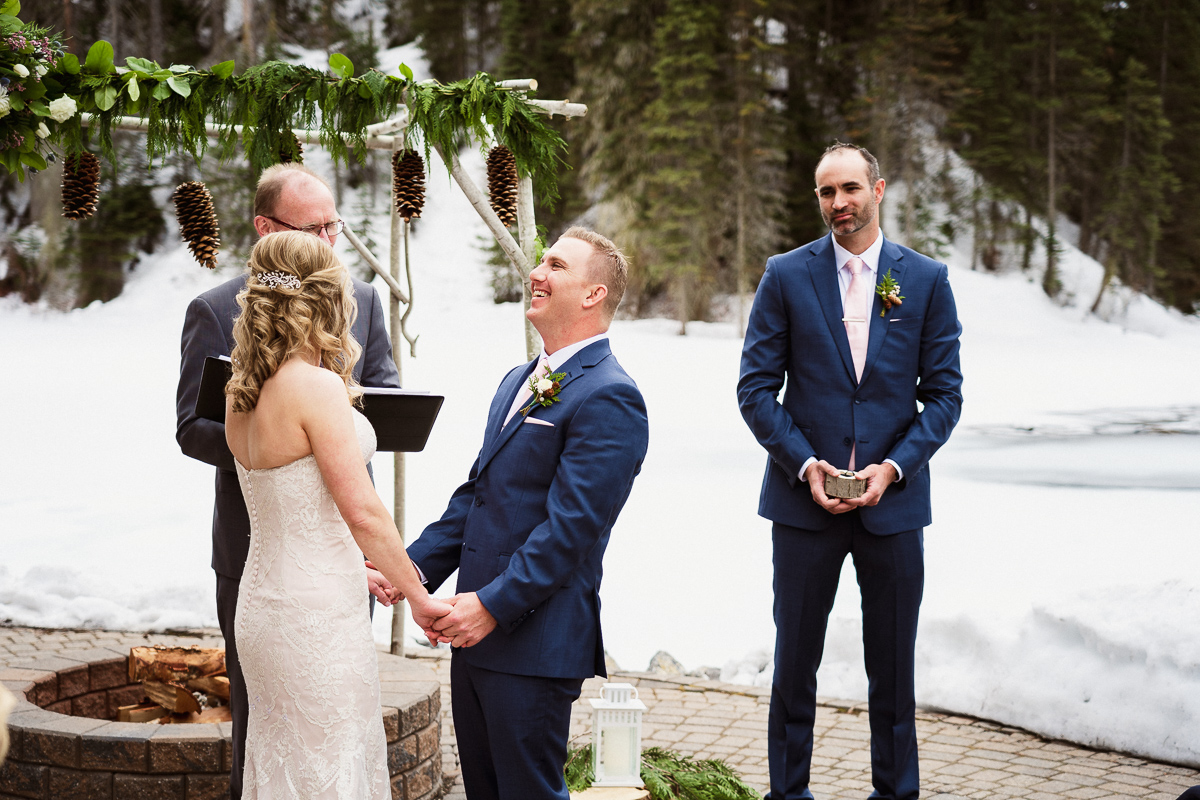 Laughter and tears at Emerald Lake wedding ceremony