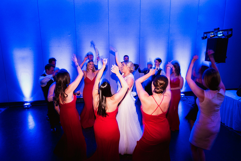 Dancing the night away at Banff Park lodge wedding
