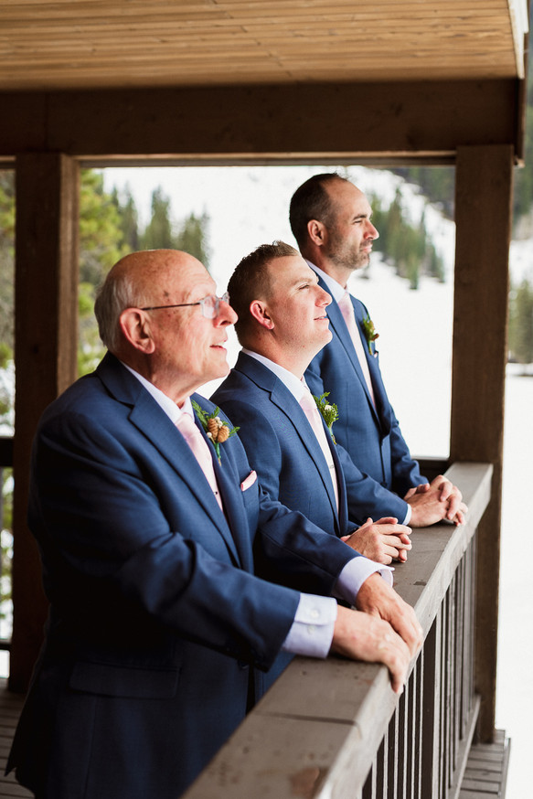 Groomsmen and father portraits before the wedding ceremony